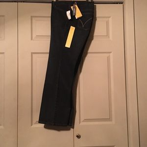Lane Bryant Right Fit Petite Yellow Square Jeans